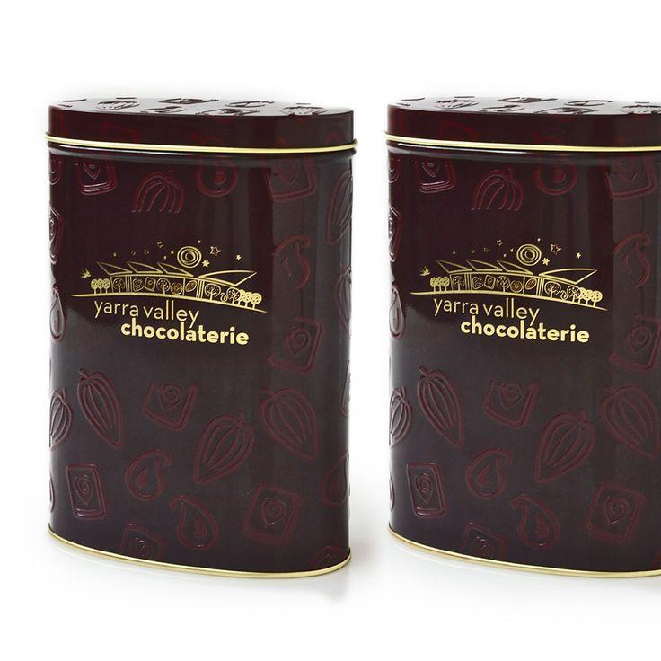 Premium cocoa tins.