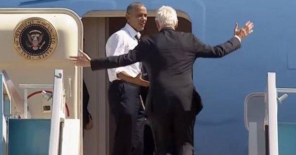 Obama casi dejó a Clinton abajo del Air Force One - MDZ Online