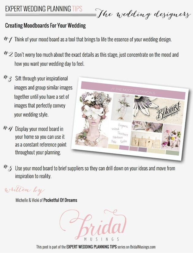 Expert Planning Tips: Creating Moodboards For Your Wedding
