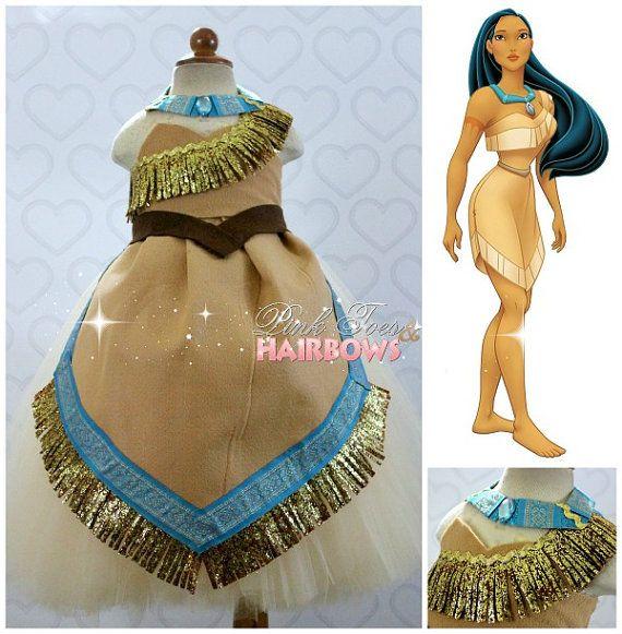 Pocahontas Dress Pocahontas costume Pocahontas by GlitterMeBaby, $100.00