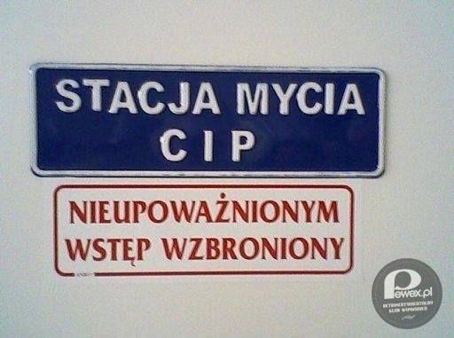 Stacja mycia CIP – Wiadomo, trzeba być upoważnionym.