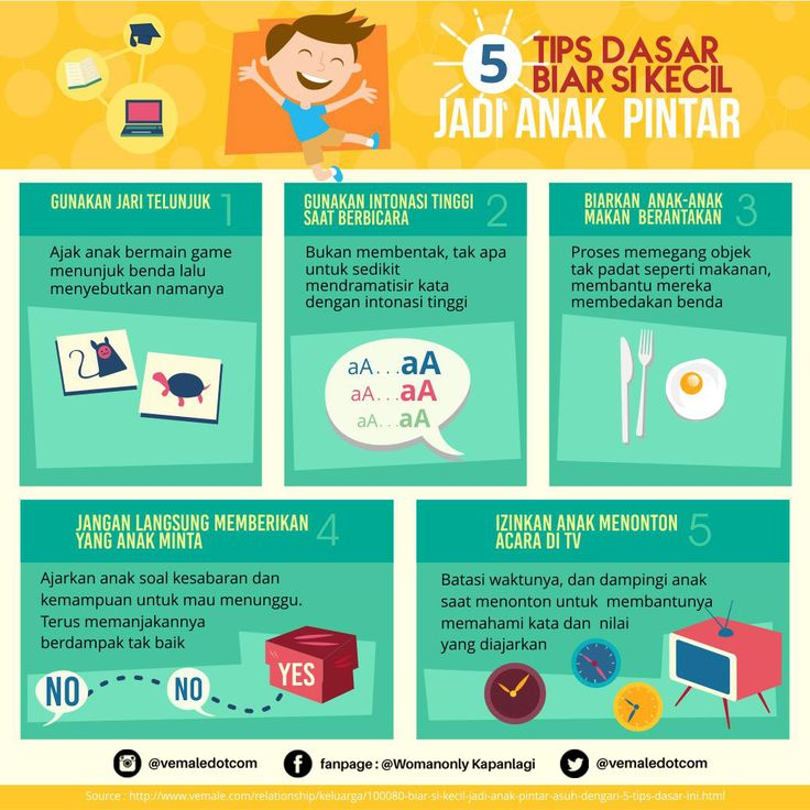 Moms, mengajak Si Kecil supaya makin cerdas punya banyak trik. Yuk coba praktikkan   #vemaledotcom #ruangvemale #sharingajasis #january #infografis #vemalegrafis #good2share