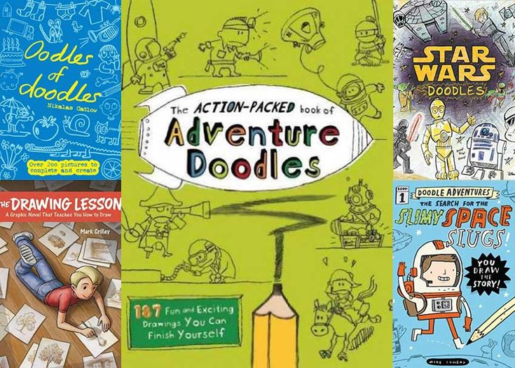 Doodle Art Kids: 8.5 x 11, 120 Unlined Blank Pages For Unguided Doodling, Drawing, Sketching & Writing