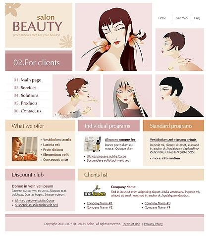 Beauty Salon Website Templates by Delta
