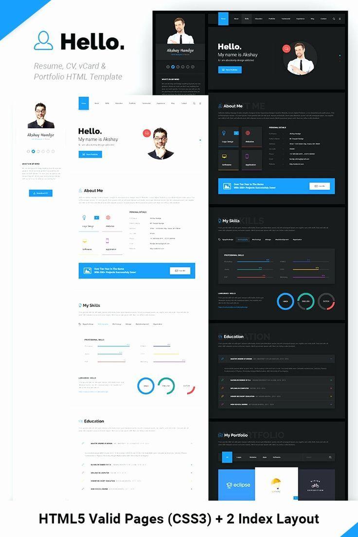 Website Template Beauty Web Design Portfolio Website Template Online Resume Website Portfolio Website Design