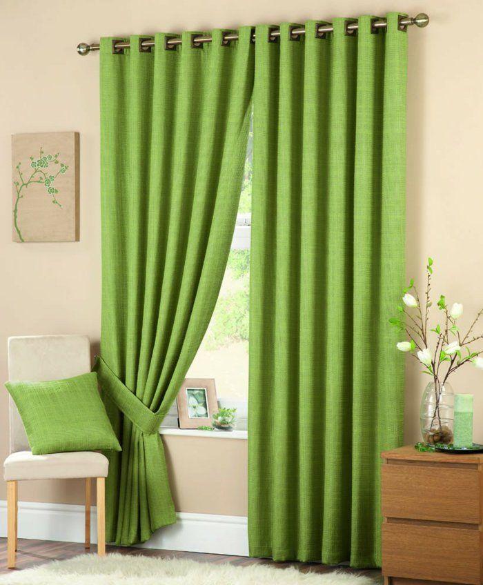 les 25 meilleures id es de la cat gorie rideaux verts sur. Black Bedroom Furniture Sets. Home Design Ideas