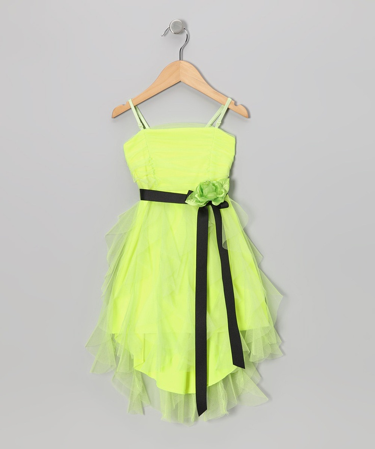 Citlali S Choice Neon Green Tiered Mesh Dress Amp Shrug