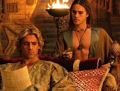 "Alexander the Great and Hephaistion as portrayed by Colin Farrell and Jared Leto in ""Alexander"" (2004)"