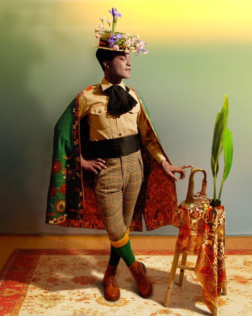 """The self-portraits and """"sartorial anarchy"""" of New York based Nigeria -born artist Ike Ude"""