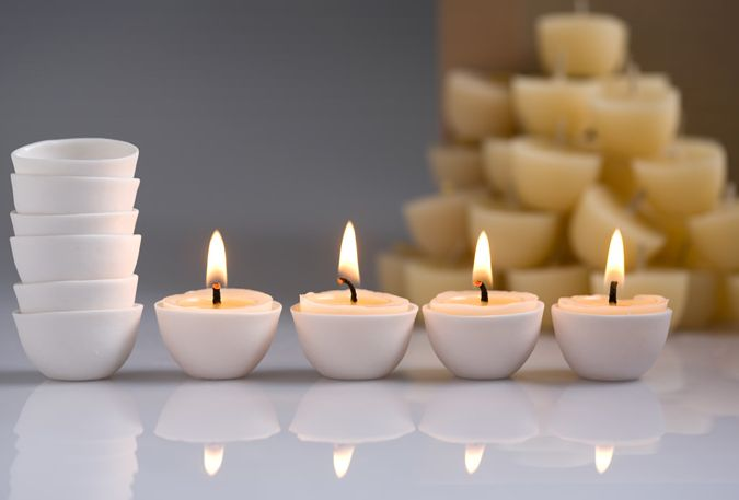 Muse - 35 candles, 5 re-useable porcelains - Organic Australian Beeswax Candles | Northern Light