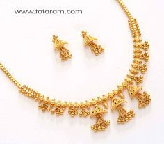 Check out the deal on 22K Gold Necklace Set at Totaram Jewelers: Buy Indian Gold jewelry & 18K Diamond jewelry
