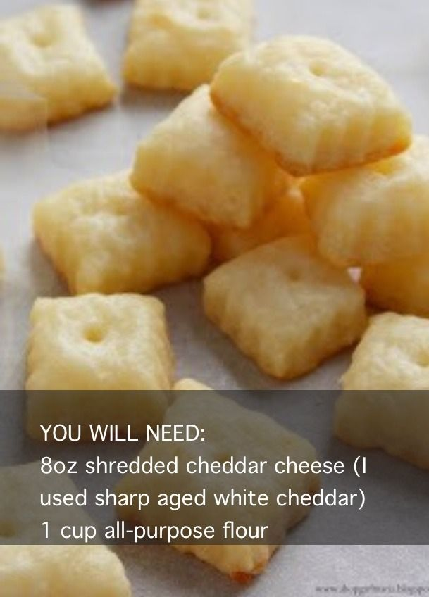 He loves Cheezits (the cheese doesn't peel far from the rind), and these look a lot healthier!