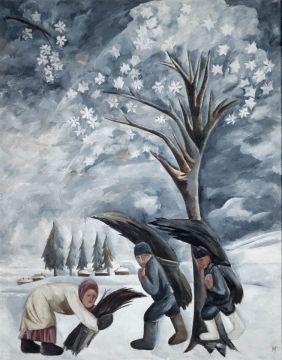 Гончарова Наталия Сергеевна  Зима. Сбор хвороста 1911