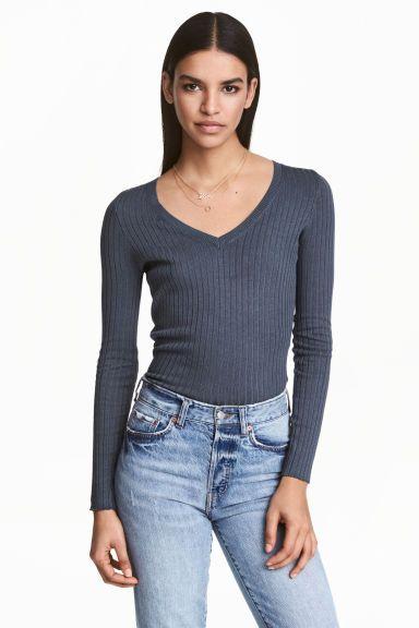 Pullover in maglia a coste