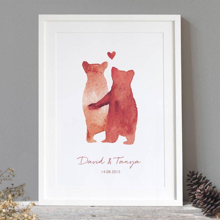 Personalised 'Bear Love' Print - Ruby