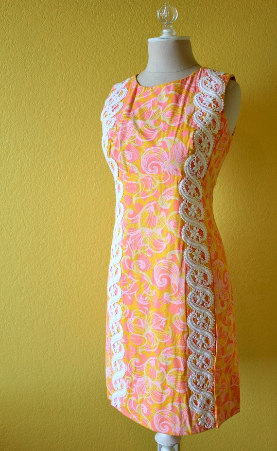 Beautiful Lilly Pulitzer dress from the 1960s. Simply beautiful Bust- up to 36  Waist- up to 34  Hips- up to 36  Length (shoulders to bottom