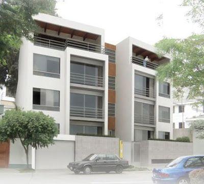 Fotos de fachadas de edificios de 4 y 5 pisos para departamentos