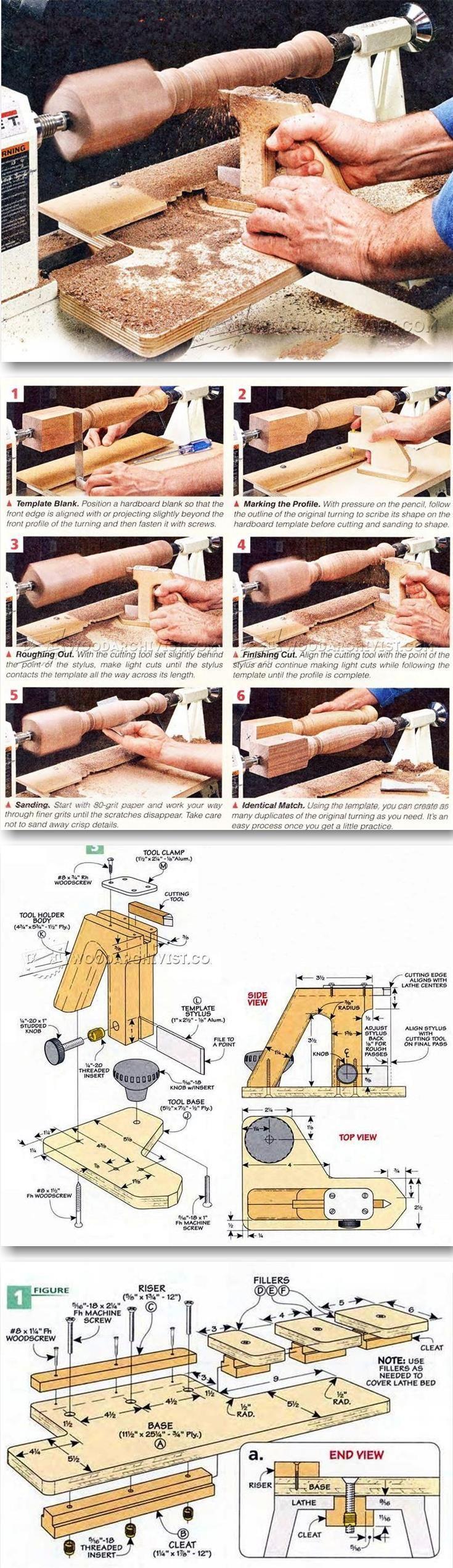 DIY Wood Lathe Duplicator - Lathe Tips, Jigs and Fixtures | WoodArchivist.com