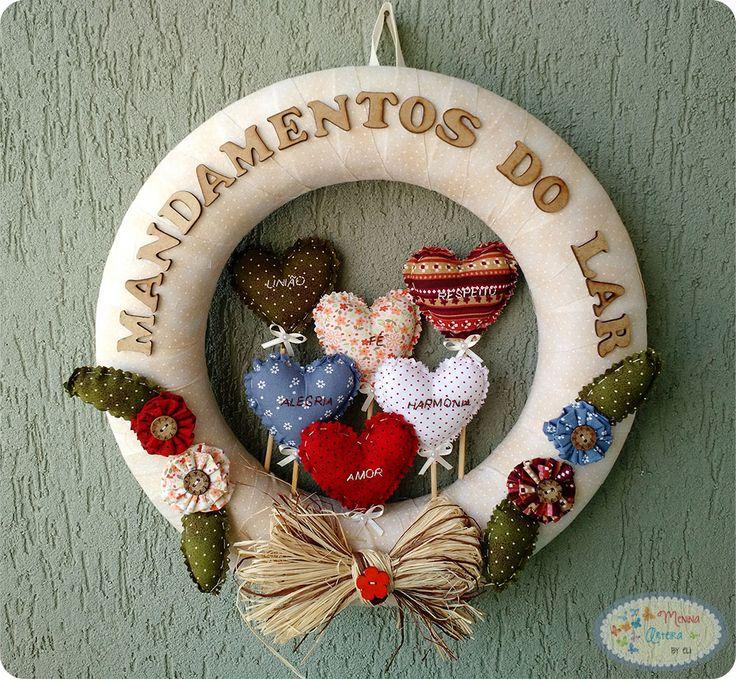 GUIRLANDA MANDAMENTOS DO LAR #artesanato #guirlanda #mandamentos #mandamentosdolar #passoapasso #pap
