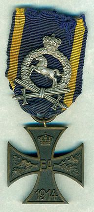 WW 1 Braunschweig  War Merit Cross 2st Class with frontline service clasp.