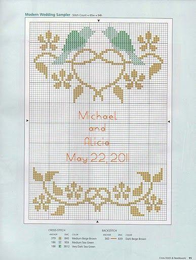 Cross Stitch Wedding Couple Pa