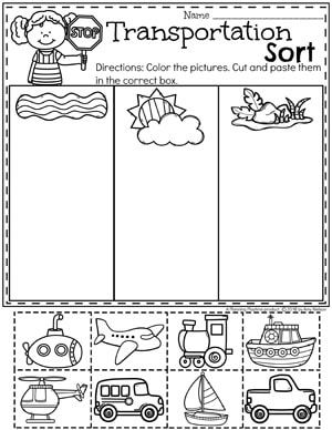 Transportation Worksheets Education
