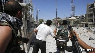 BBC: Syria conflict: 'Scores of bodies found' near Damascus
