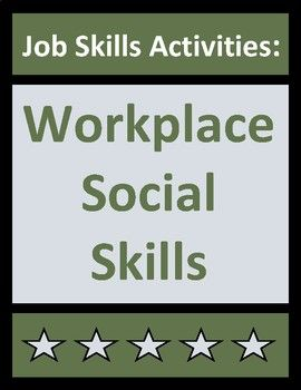 Job skills activities teach students about key workplace social skills using real-life employment situations, examples, and dos and donts. No-prep worksheets are ideal for CTE, life skills, transition-to-work, co-op, and vocational students. Contains 6 pages of student content and corresponding answer keys.
