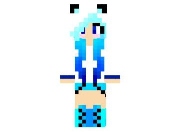 How to install Blue Ice Panda Girl Skin for Minecraft First,download this Skin Go to minecraft.net Click profile and browse your new Skin Click upload image