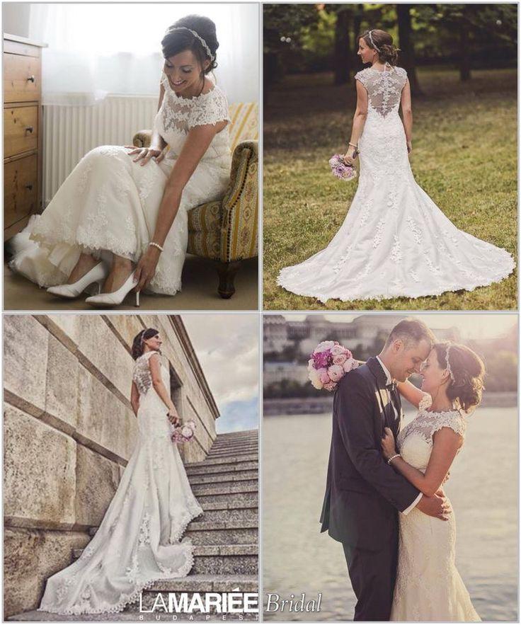 LANDEL esküvői ruha Pronovias kollekció - Zsófia menyasszonyunk http://mobile.lamariee.hu/eskuvoi-ruha/pronovias-2014/landel