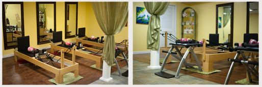 Pilates reformers at Tranquiliti Wellness Center