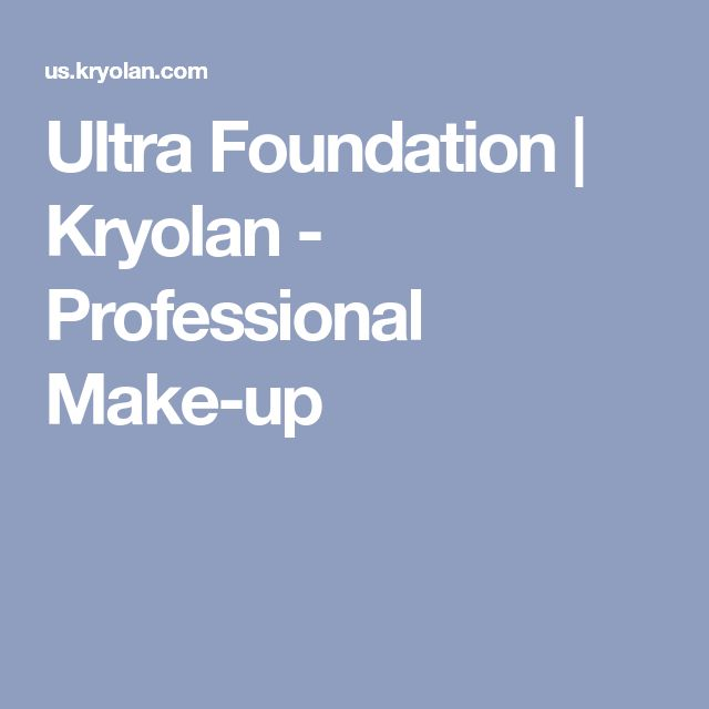 Ultra Foundation | Kryolan - Professional Make-up