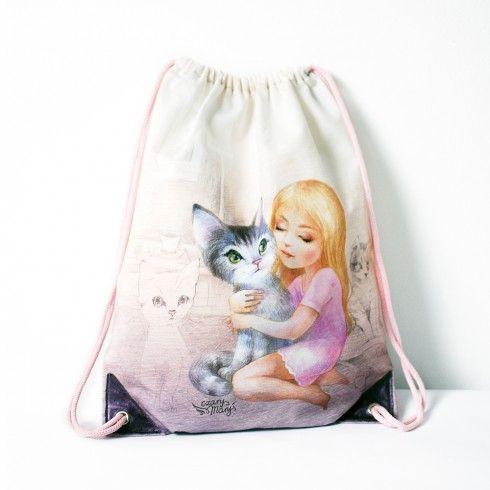 backpack bag cat