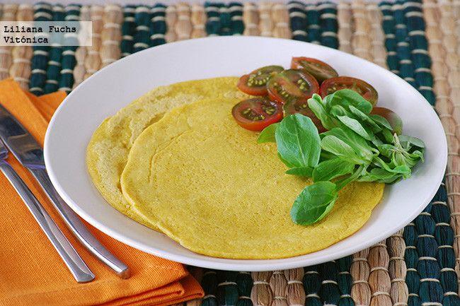 Tortillas veganas de harina de garbanzos. Receta saludable y deliciosa!  http://paraadelgazar.ws/tortillas-veganas-de-harina-de-garbanzos-receta-saludable-y-deliciosa/ Salud y Bienestar