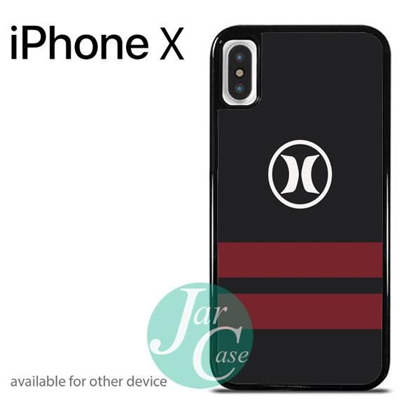 Hurley Dark Red Strip Phone case for iPhone X