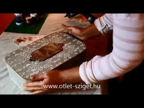 Ötlet-sziget, Vintage doboz készítése - YouTube