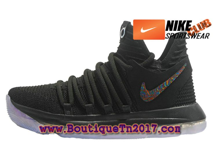 Nike Zoom KD 10 Chaussures Nike Basket Pas Cher Pour Homme Noir Or