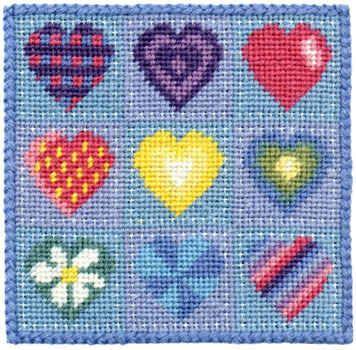 Small Tapestry Kit - Hearts