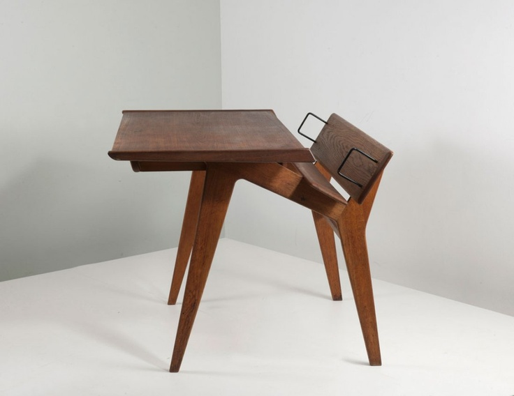 Marcel Gascoin (attributed) writing desk c. 1950.