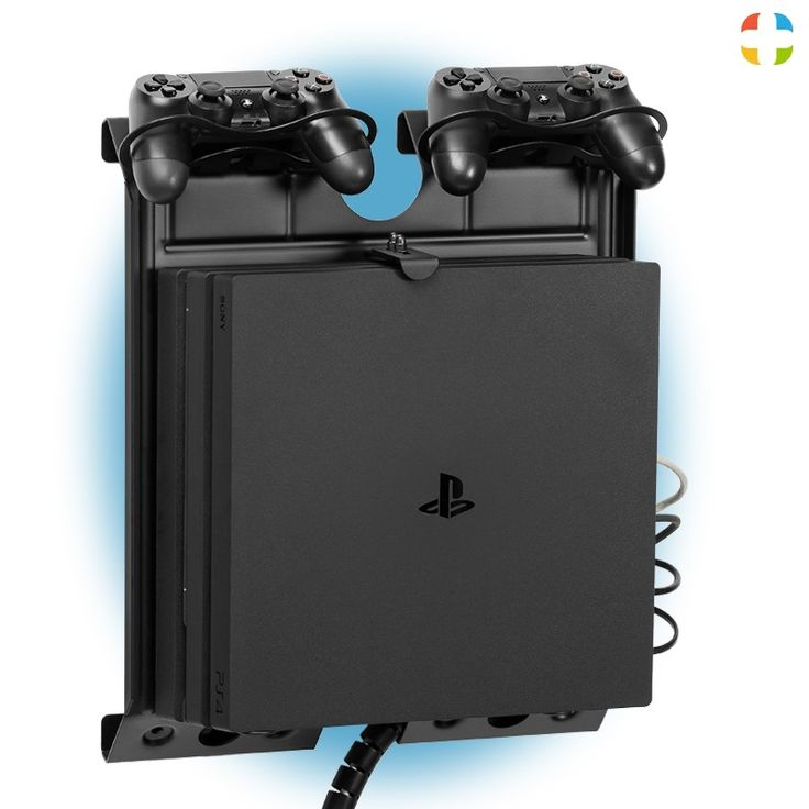 Check out this  GameSide Game Console Vertical Wall Mount With Multicolor Led Light create for your passion !   GameSide vertical wall mount with multicolor led light for PlayStation®4 first series, Slim and Pro, Xbox® One first series and S and all versions of PlayStation®3, Xbox® 360!
