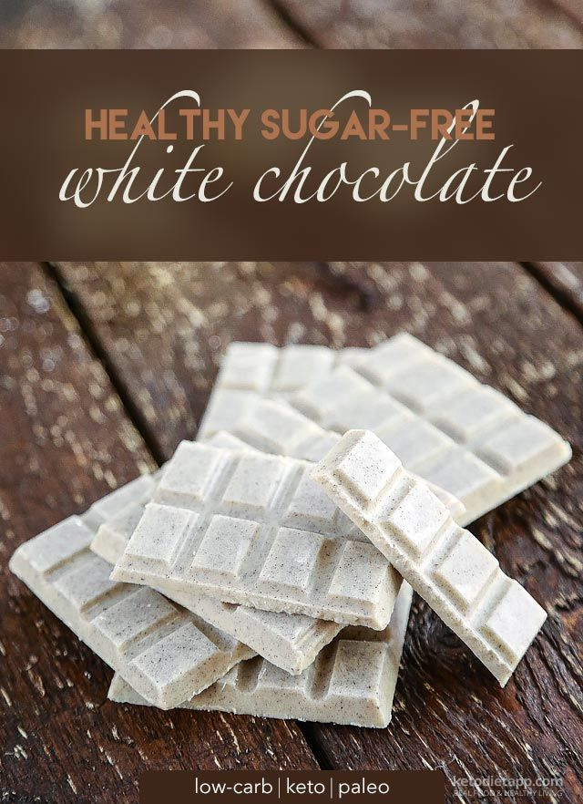 Healthy Low-Carb White Chocolate - cacao butter, coconut milk powder, sweetened keto condensed milk (optional, includes recipe link), powdered erythritol/Swerve/other low-carb sweetener, vanilla bean powder/sugar-free vanilla extract, salt, liquid stevia (optional)