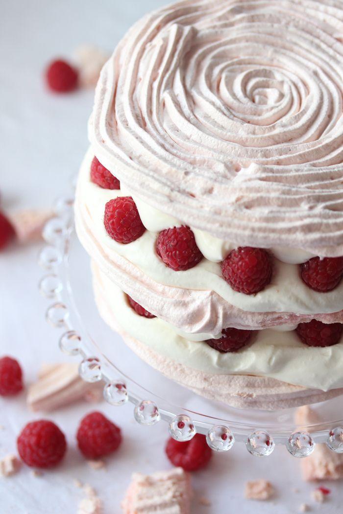 Raspberry and Cream Torte