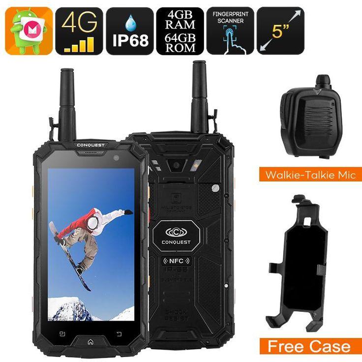 Não tem como não ter amor por esse produto Celular  Conquest... Confira aqui! http://alphaimports.com.br/products/smartphone-conquest-s8-rugged-telefone-2017-edition-ip68-external-walkie-talkie-mic-4g-sos-android-6-0-octa-core-cpu-1080p-6000mah?utm_campaign=social_autopilot&utm_source=pin&utm_medium=pin