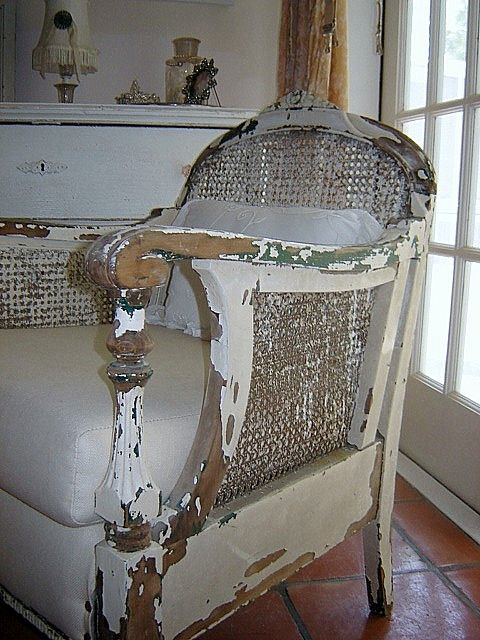 Shabby Chair by theunquietlibrarian, via Flickr  I want this chair!