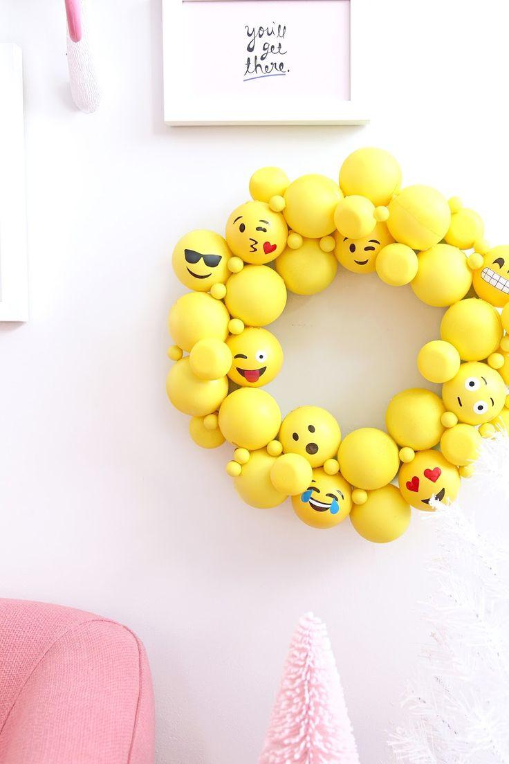 Emojis shower curtains emojis fabric shower curtain liner - Diy Emoji Ornament Wreath