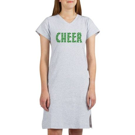 2a66139234 Green Chevron Cheer Women s Nightshirt