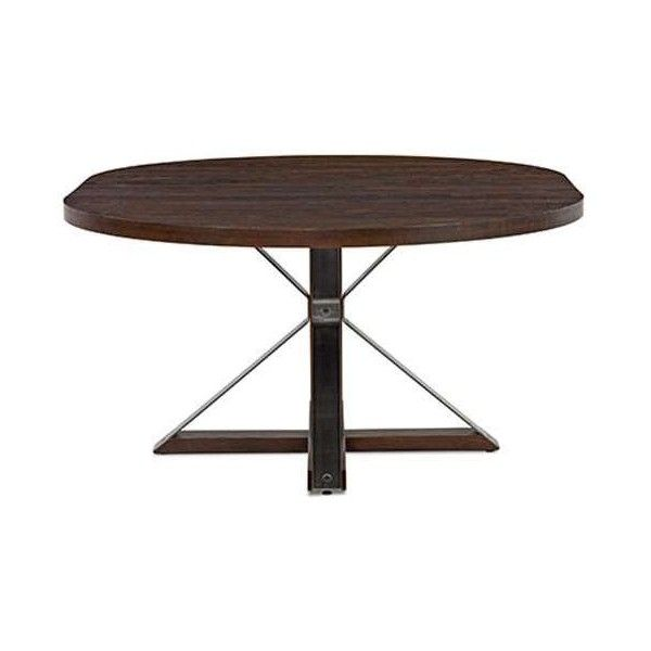 Saloom Furniture Cambridge Round Oak Dining Table ($1,748) ❤ Liked On  Polyvore Featuring Home