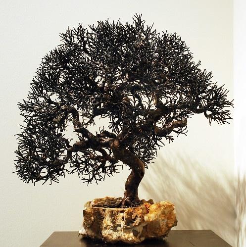 Tree #104     Artist   Bill Webb      Subject   metal trees     Medium   Steel & Copper on Stone     Category   Sculpture     Dimensions   H 17in x W 18in x D 14in