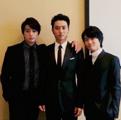 "Mackenyu x Kento Yamazaki x Ryunosuke Kamiki, after press conference, J LA movie ""JOJO'S BIZARRE ADVENTURE Diamond is unbreakable (Part 1)"" (in theaters Summer 2017), Sep/28/2016"