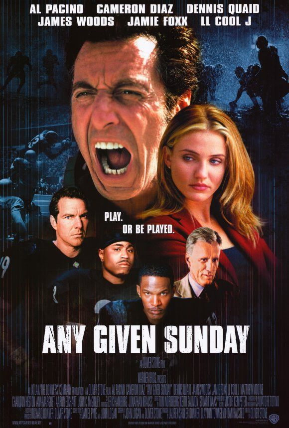 CAST: Al Pacino, Dennis Quaid, Cameron Diaz, Jamie Foxx, Charlton Heston, James Woods, Matthew Modine, Ann-Margret, Lauren Holly, Lela Rochon, L.L. Cool J., Aaron Eckhart, Jim Brown, Bill Bellamy, Eli